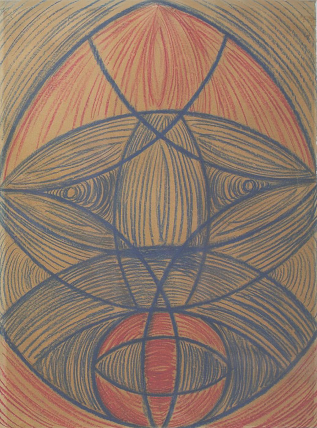 "Vaslav Nijinsky, ""The Mask"" (1919), pastel on paper (© Vaslav Nijinsky, courtesy Bethlem Museum of the Mind, Beckenham, Kent)"