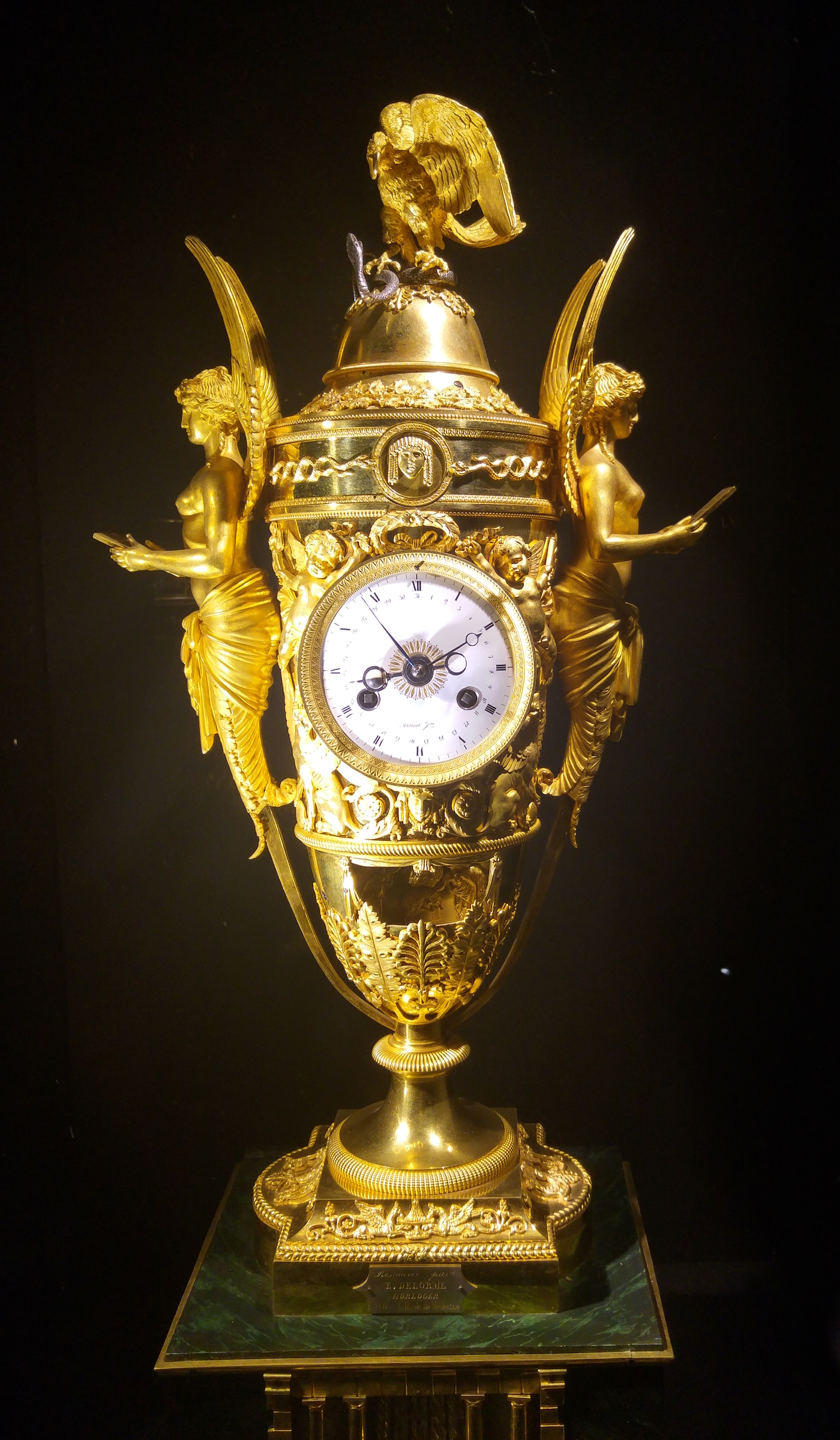 Napoleon Clock, table clock with organ, movement, and automata, Louis Moinet le jeune, France (ca 1805)