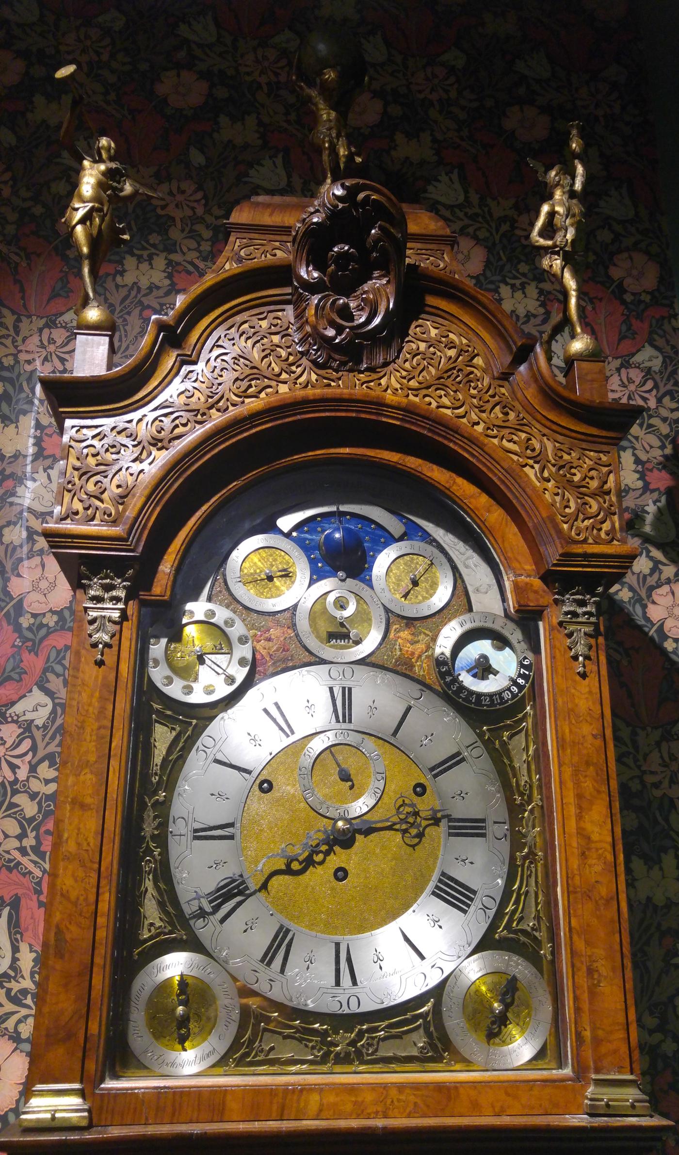 Standing clock by A.C.J. Jansen, Amsterdam (ca 1890)