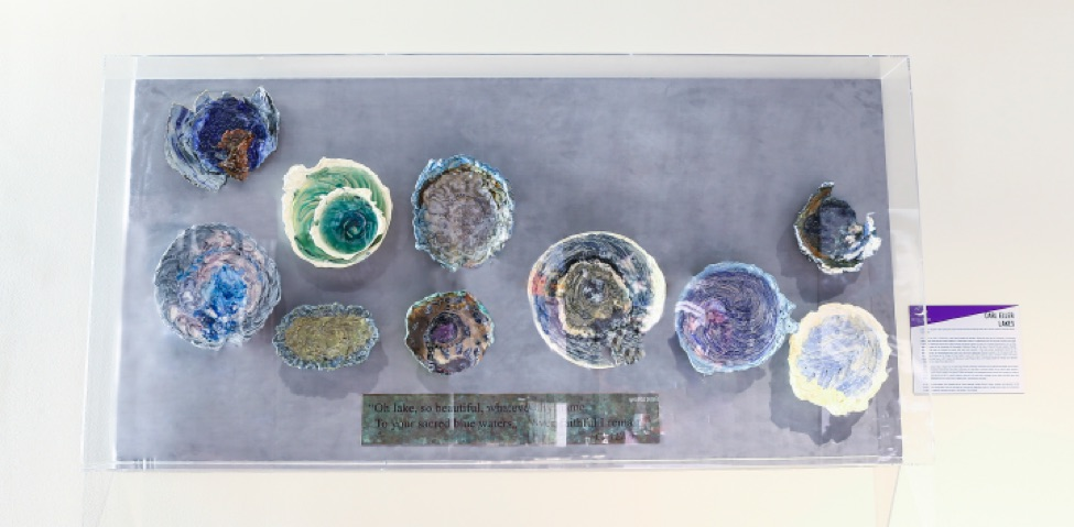 Bowls by former Vikings player Carl Eller (click to enlarge)