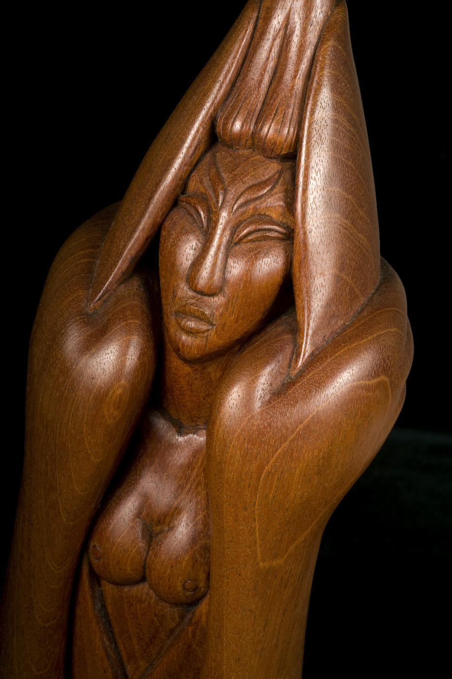 """Willard Stone, """"Birth of Atomic Energy"""" (nd), wood, 23 × 4 3/4 × 4 3/4 inches (courtesy Gilcrease Museum)"""