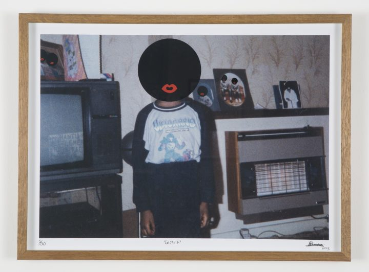 "Larry Achiampong, ""Glyth 4"" (2013), digital montage on C-print"