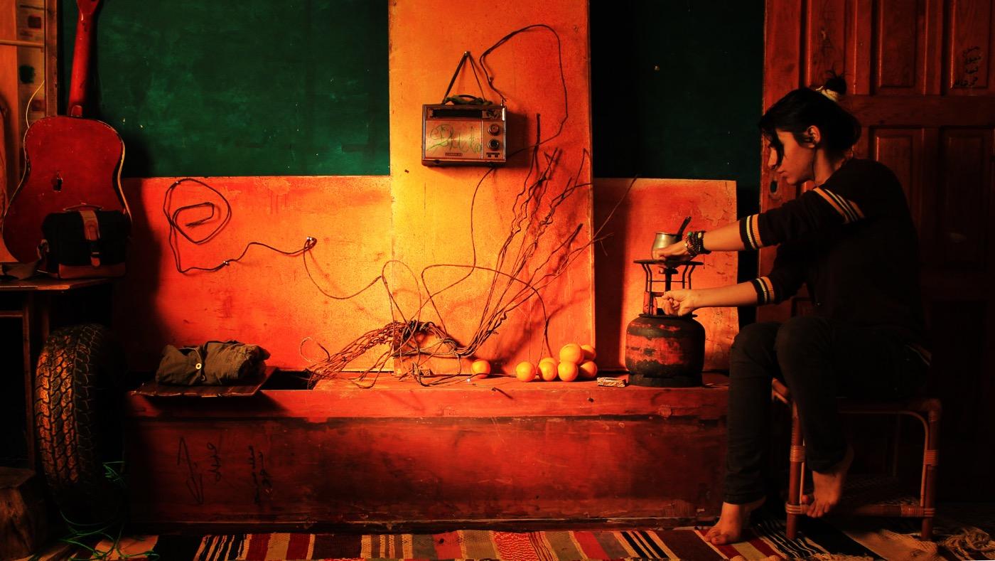 "Nidaa Badwan, ""One Hundred Days Of Solitude; Code: 4"" (2014) c-print, 24 x 40 inches (60 x 100 cm)"