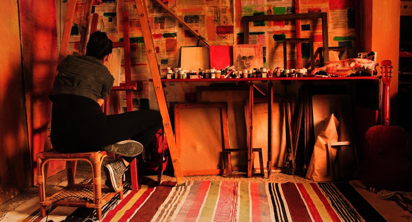 "Nidaa Badwan, ""One Hundred Days Of Solitude; Code: 7"" (2014) c-print, 24 x 40 inches (60 x 100 cm)"