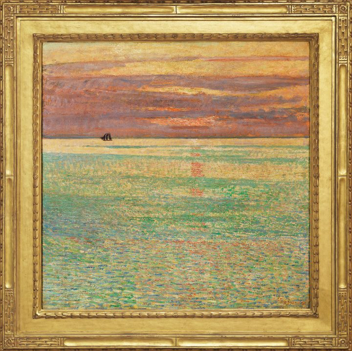 """Childe Hassam, """"Sunset at Sea"""" (1911), oil on canvas, private collection (photo by Clements/Howcroft, image courtesy Brock & Co., Concord, Mass)"""