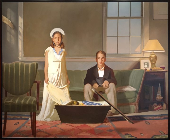 """Bo Bartlett, """"The Box"""" (2002), Oil on canvas. Collection of Andrew Nelson."""