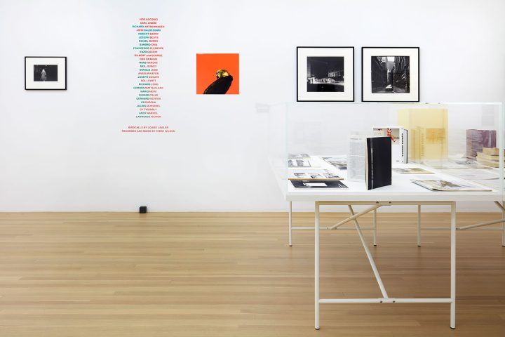 Installation view, 'Douglas Crimp: Before Pictures, New York City 1967-1977' at Galerie Buchholz, New York, 2016