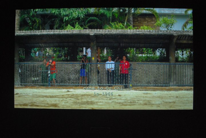 """The Propeller Group, """"Cu Chi Guerrillas,"""" (201), photograph of projection."""