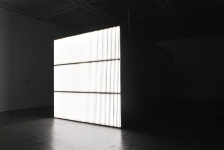 """Alfredo Jaar, """"The Sound of Silence"""" (2006) installation shot from front."""