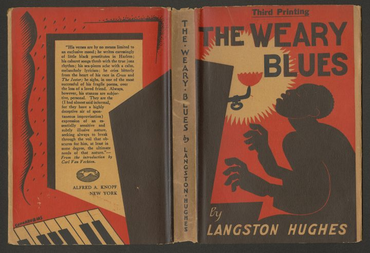 Langston Hughes (American, 1902 – 1967) Dust Jacket: Miguel Covarrubias (Mexican, 1904 – 1957) The Weary Blues, 1926 Book and dust jacket Published by Alfred A. Knopf Courtesy of Stuart A. Rose Manuscript, Archives, and Rare Book Library at Emory University