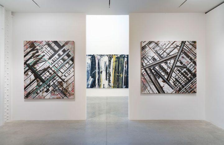 Installation view, 'Ed Moses: Painting as Process' at Albertz Benda (click to enlarge)