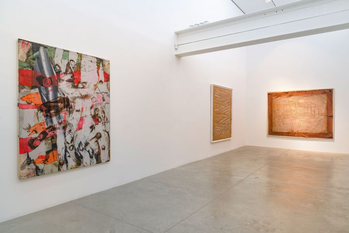 Installation view, 'Ed Moses: Painting as Process' at Albertz Benda gallery