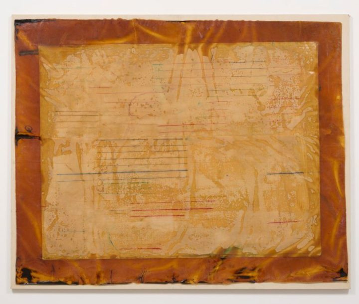 "Ed Moses, ""Untitled"" (c. 1971), resin and powdered pigment on canvas, 96 x 108 inches (all images courtesy Albertz Benda)"