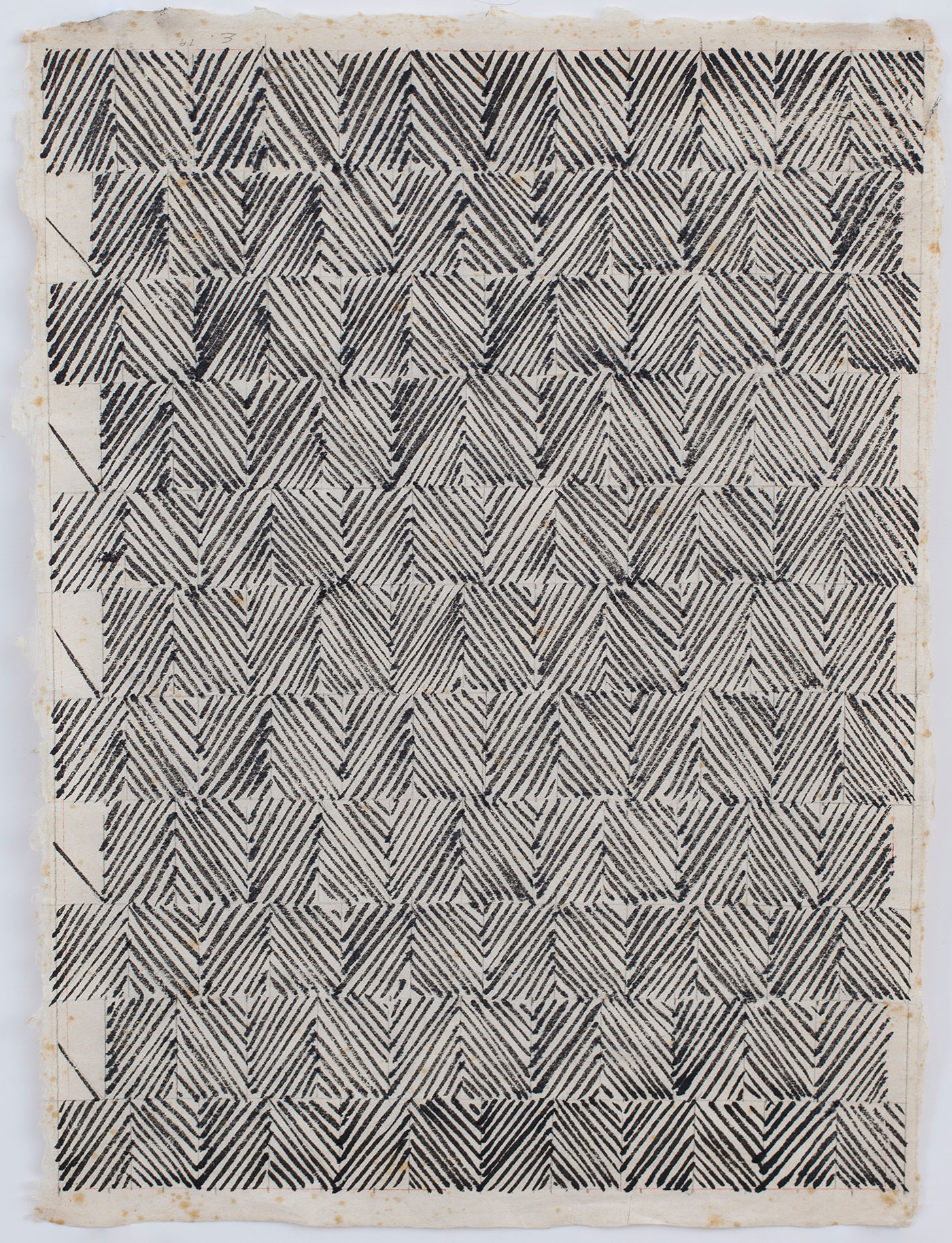 "Ed Moses, ""Untitled"" (1979), ink on handmade paper, 17 1/4 x 12 3/4 inches"