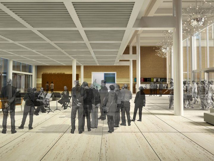 View of the community commons in the new Rothko Pavilion (image courtesy Vinci Hamp Architects)