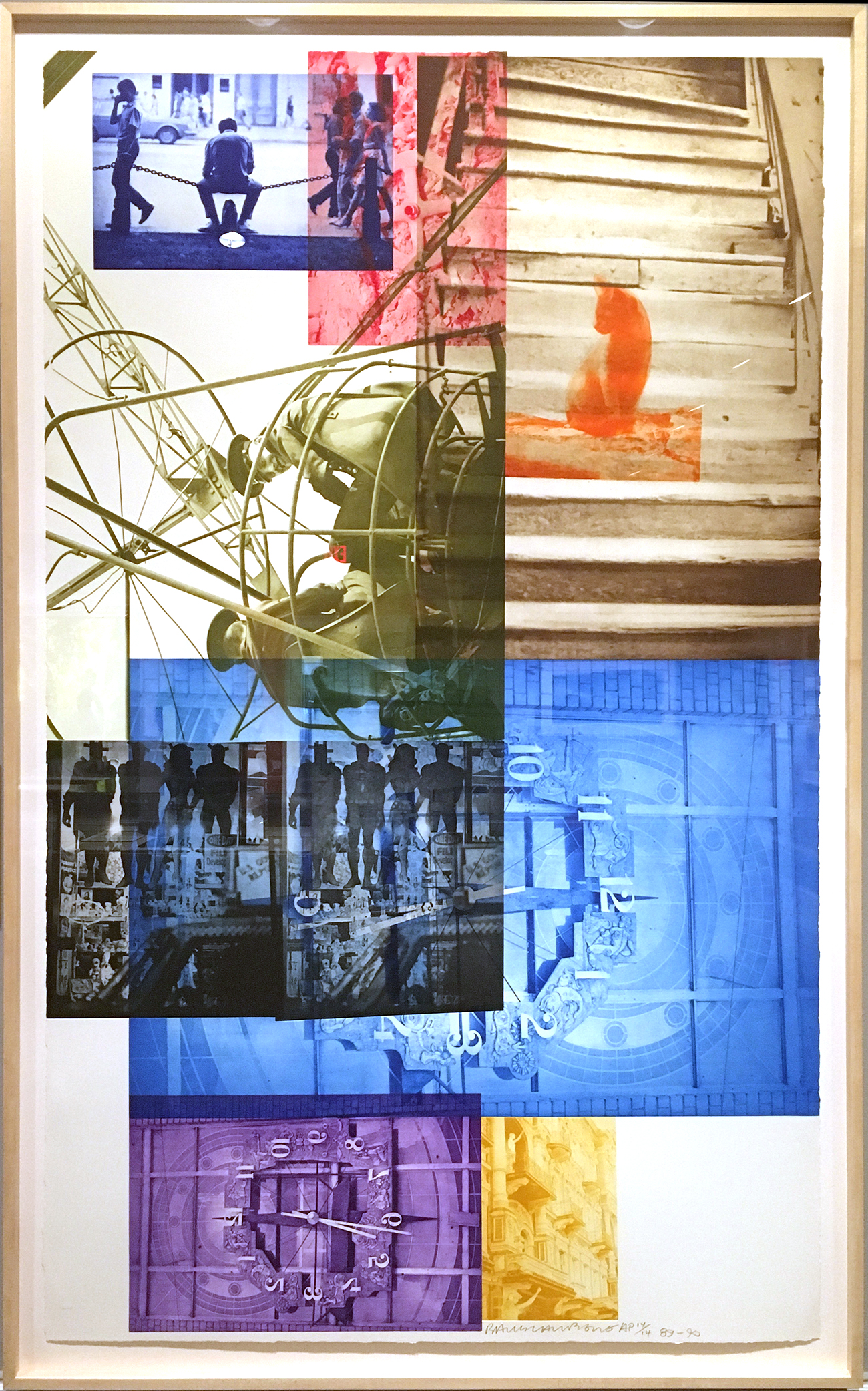 "Robert Rauschenberg, ""Soviet/American Array III"" (1990), Intaglio. Collection of Universal Limited Art Editions"