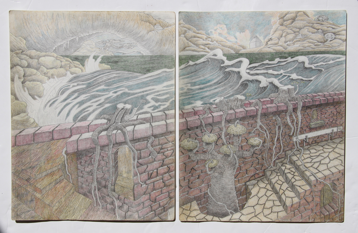 untitled-2014-pencil-crayon-11-x-14-in-each-panel