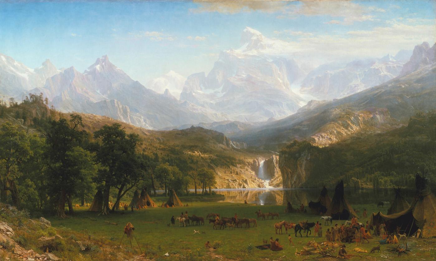 "Albert Bierstadt, ""The Rocky Mountains, Lander's Peak"" (1863), oil on canvas, which features in the ""Recent Acquisition"" episode (via Metropolitan Museum of Art/Wikimedia)"