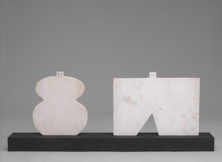 "Francisco Matto, ""Couple"" (1982), marble and wood, gift of Patricia Phelps de Cisneros through the Latin American and Caribbean Fund in honor of Rubén Pérez-Barreiro (© 2016 Fundacion Francisco Matto)"