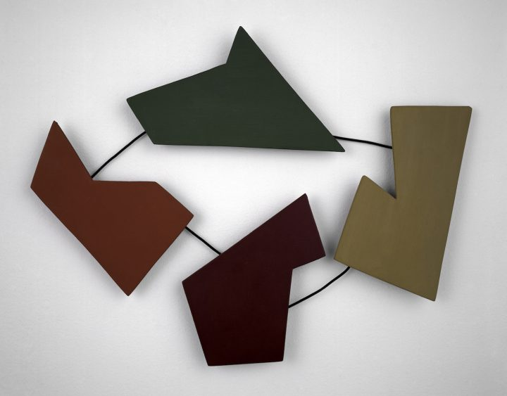 """Raúl Lozza, """"Relief N° 30"""" (1946), casein on wood and painted metal, 16 1/2 x 21 1/8 x 1 1/16 in"""