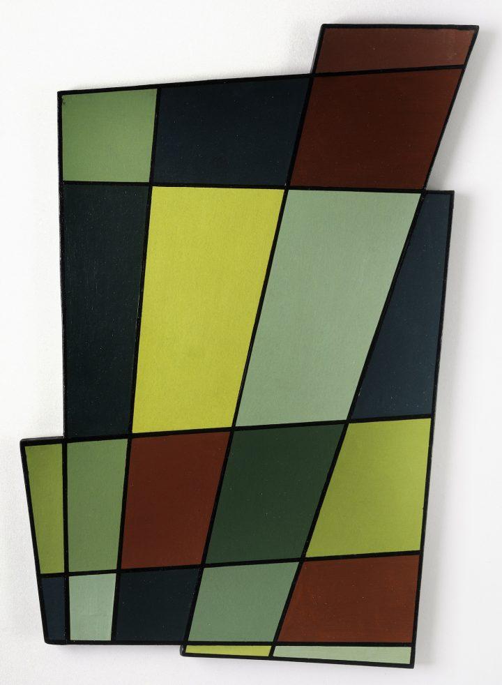"Juan Melé, ""Irregular Frame no. 2"" (1946), oil on composition board, 28 x 19 3/4 x 1 in"