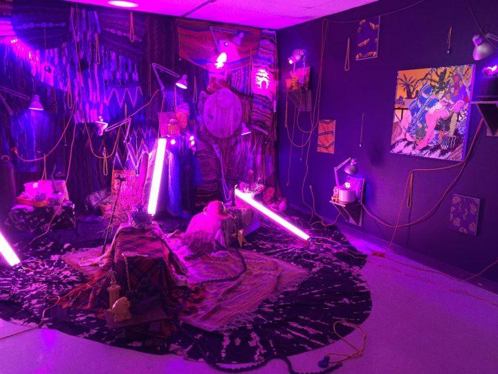 Amir Fallah's installation.
