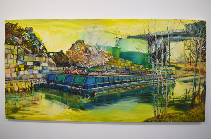 """Lizbeth Mitty, """"Boating"""" (2016) from 'Falling In,' the current exhibition at Trestle Projects, curated by Melissa Staiger"""
