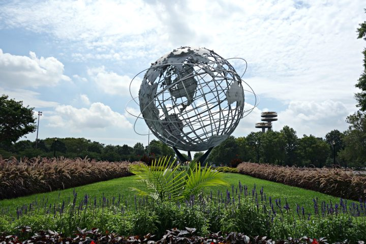 The New York World's Fair grounds in Flushing Meadows-Corona Park (photo by the author for Hyperallergic)