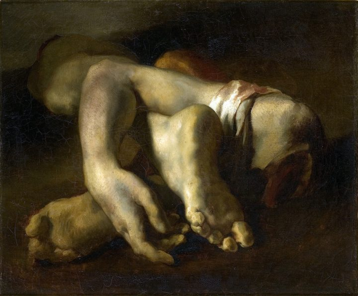 "Théodore Géricault, ""Study of Feet and Hands"" (1818-19), oil on canvas (via Musée Fabre/Wikimedia)"