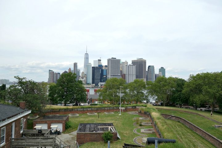 Governors Island in the New York Harbor (photo by the author for Hyperallergic)