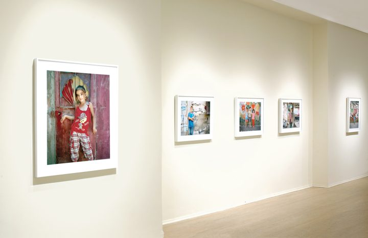 Installation view of 'Rania Matar: Invisible Children' at C. Grimaldis Gallery (courtesy C. Grimaldis Gallery)