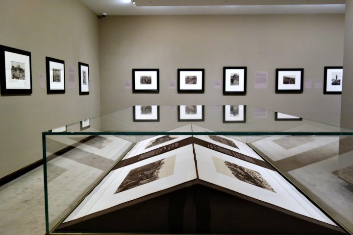 Installation view of 'Faith and Photography: Auguste Salzmann in the Holy Land' (photo by the author for Hyperallergic)