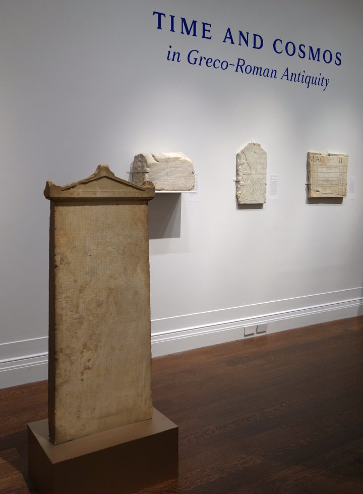 Installation view of 'Time and Cosmos in Greco-Roman Antiquity' at the Institute for the Study of the Ancient World (photo by the author for Hyperallergic)