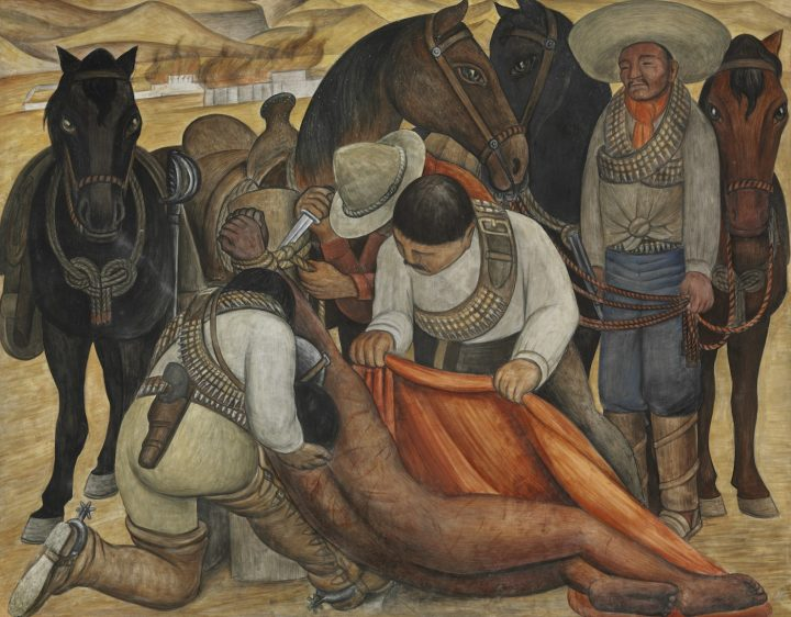 """Diego RIvera, """"Liberation of the Peon"""" (1931), Philadelphia Museum of Art, gift of Mr. and Mrs. Herbert Cameron Morris, 1943–46 (© Banco de México Diego Rivera Frida Kahlo Museums Trust, Mexico, DF / Artists Rights Society, ARS, New York)"""