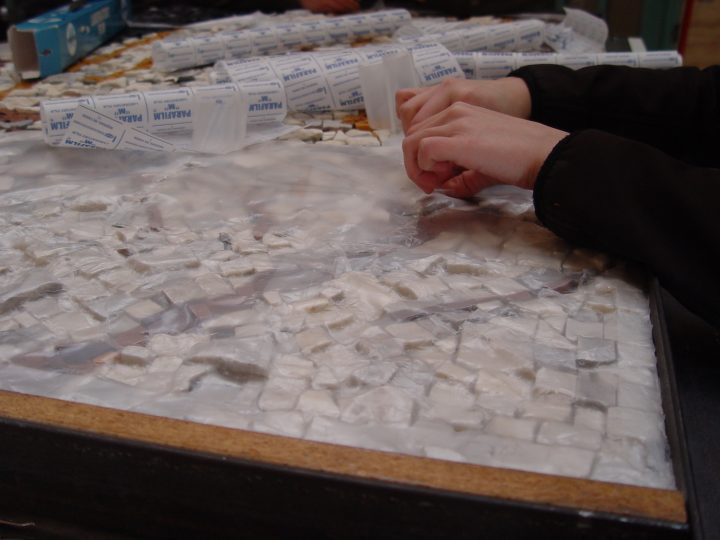 13-barrier-layer-of-parafilm-m-applied-to-marble-tesserae