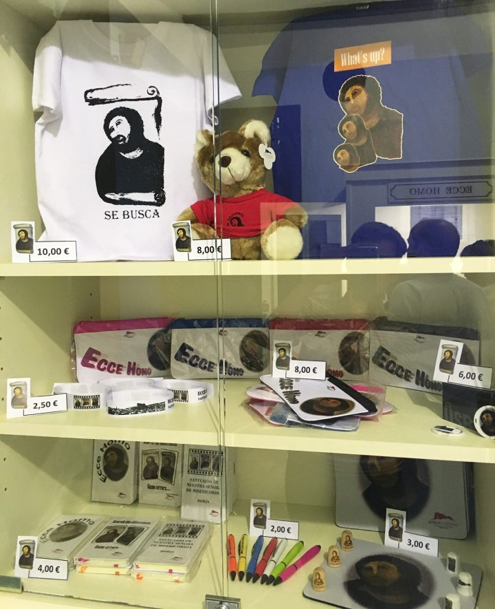 """There was even a T-shirt with three (!) Monkey Jesuses on it. It read: """"What's up?"""" Another one featured a Monkey Jesus mug shot that read: """"Wanted."""""""