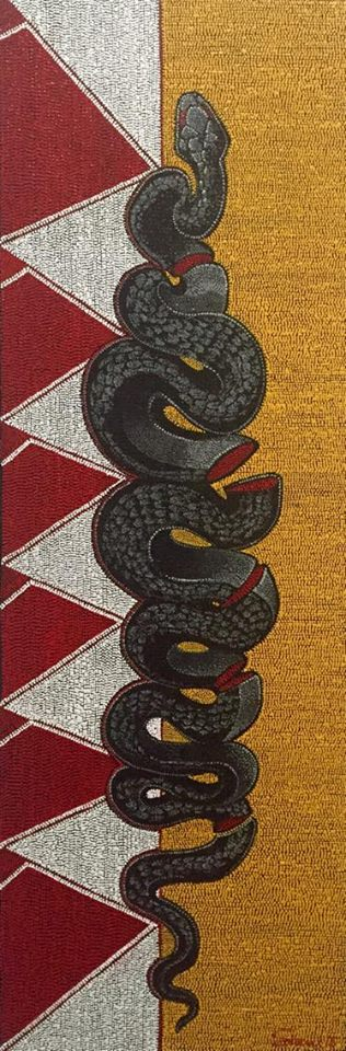 """Black Snake"", 2016 Starr Hardridge (Muscogee Creek) image courtesy of the artist."