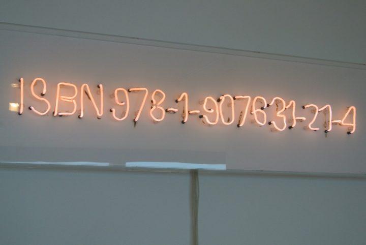 """Fiona Banner. """"The Vanity Press"""" (2013), Neon parts bent by the artist, published by The Vanity Press"""