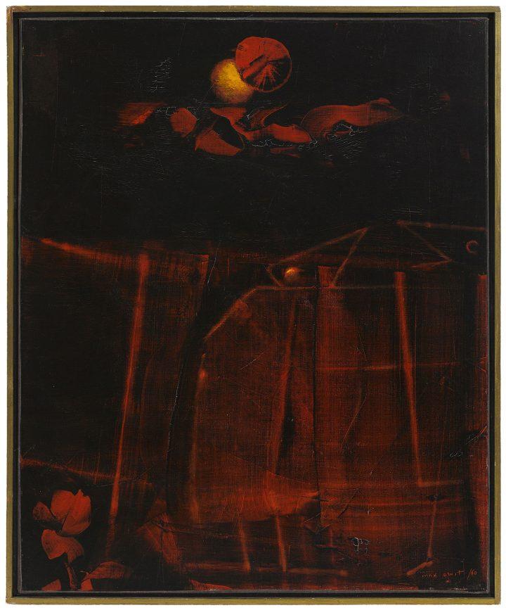 """MAX ERNST """"Je suis une femme, vous êtes un homme, sommes nous la république"""" (1960), 24 x 19 3/4 in (61 x 49.7 cm) US$ 400,000–600,000"""