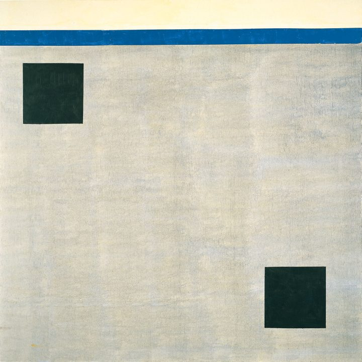 "Agnes Martin, ""Untitled"" (2004), acrylic on canvas, 60 x 60 inches (152.4 x 152.4 cm), Collection of Mitzi and Warren Eisenberg (© 2015 Agnes Martin/Artists Rights Society, ARS, New York)"