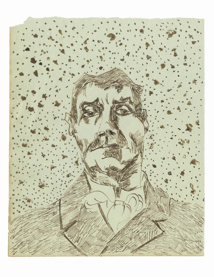 """""""Joseph Ginoux II"""" (early December, 1888), one of 65 drawings attributed to Vincent van Gogh and published in the forthcoming title, Vincent van Gogh: The Lost Arles Sketchbook"""