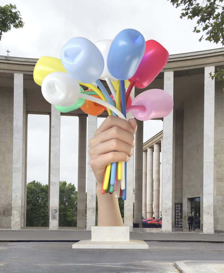 Jeff Koons Gifts a Big Bouquet of Ugly to the French