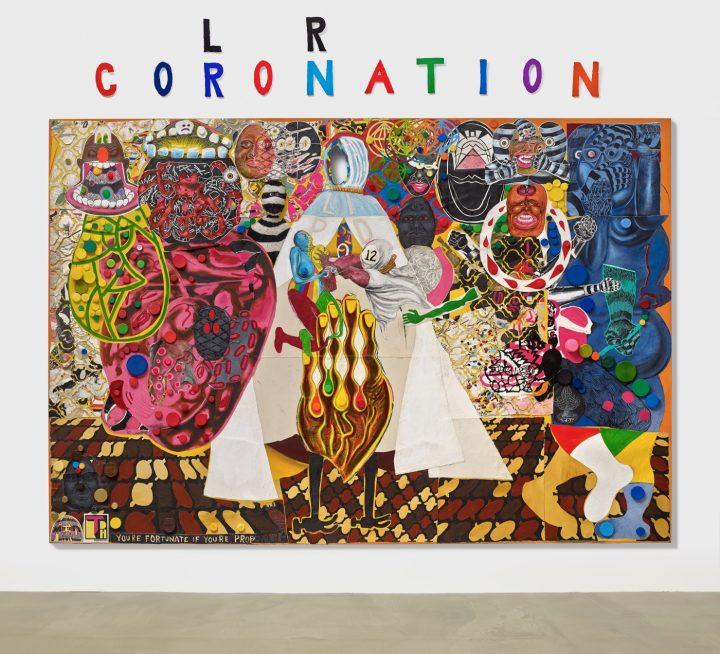 "Trenton Doyle Hancock ""Coloration Coronation""(2016) Acrylic and mixed media on canvas 90 x 132 in."