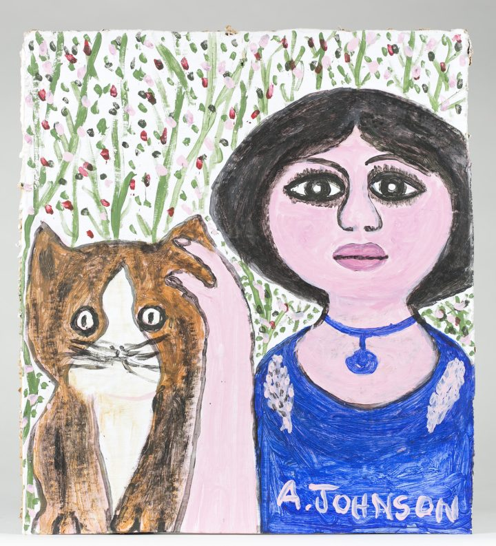 """Anderson Johnson, """"Woman and Cat"""""""