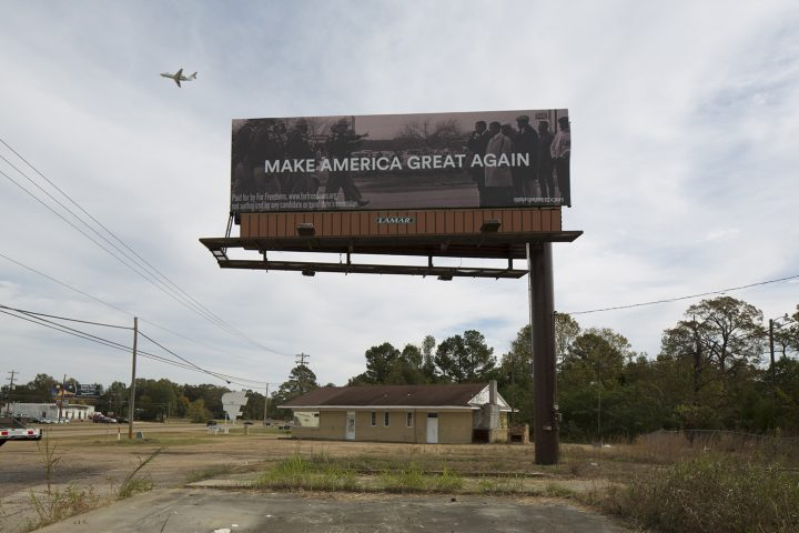 'Make America Great Again' billboard features Bloody Sunday image