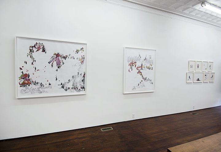 Installation view of Rachel Farbiarz: A Different Country at G Fine Art (photo by Lee Stalsworth)