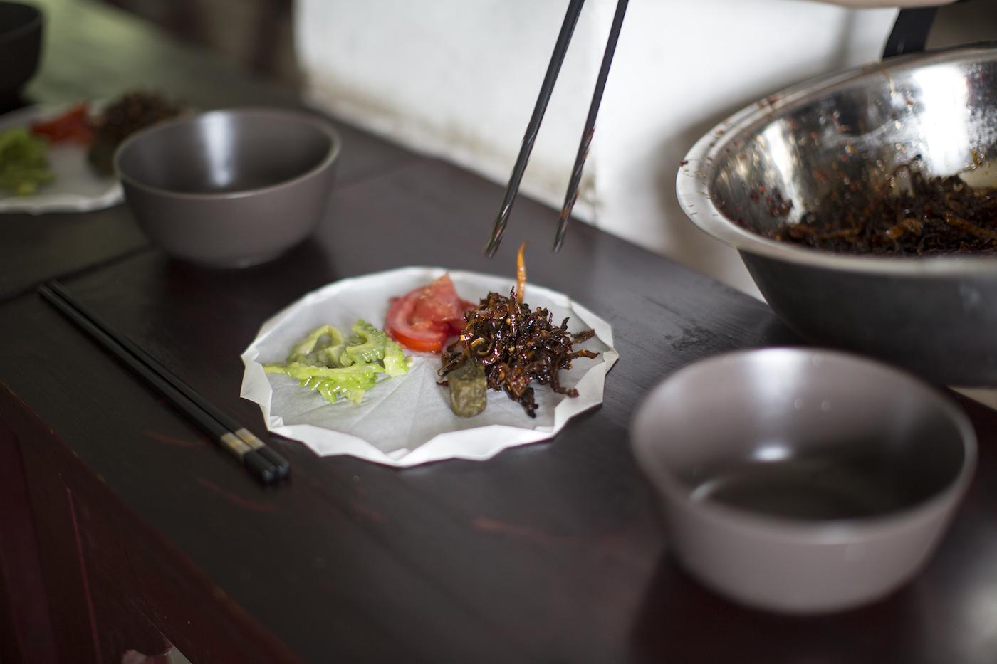"""Xie Fan, """"Buddhist Lunch,"""" (2016)"""