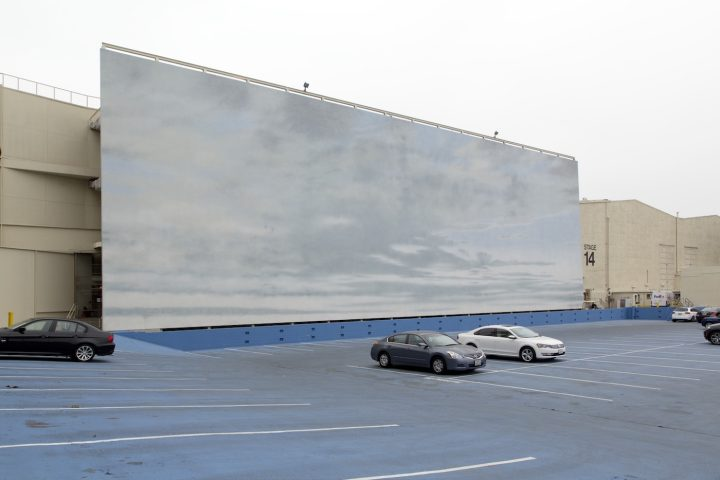 Sky backdrop at Paramont Pictures, in a parking lot that can be turned into a body of water (photograph by Carol M. Highsmith, via Library of Congress/Wikimedia)