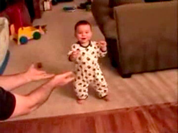"Guthrie Lonergan. ""Babies' First Steps"" (still) (2005). Video, 4:07 (via honorfraser.com)"