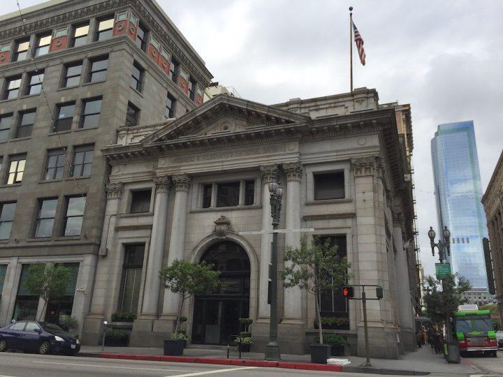 The Farmers & Merchants Bank building.